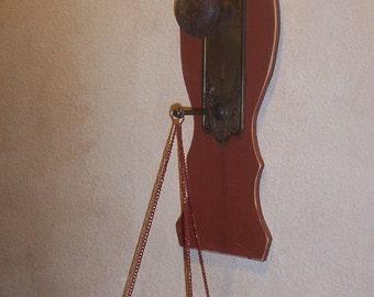 Hanging Candle Holder, Vintage Doorknob , hardware, chair back