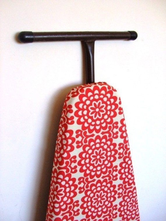 Ironing Board Cover - Red Amy Butler Lotus floral circles
