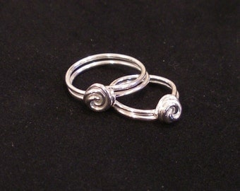 Matching Mother Daughter Rings - SET OF TWO -  Sterling Silver Ring - The Original