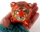 Handmade Tiger Tigre Team Mascot Chinese New Year Figurine sculpture