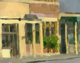 CLEARANCE cityscape original oil painting 9x12 - Seville Quarter