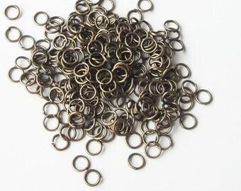 Brass Jumprings - Antique Brass Jump Ring Connector- 7mm - 1/2 OZ. 180 Pcs Approx - 20 Gauge - Bronze Metal Findings - Bulk Jewelry Supply