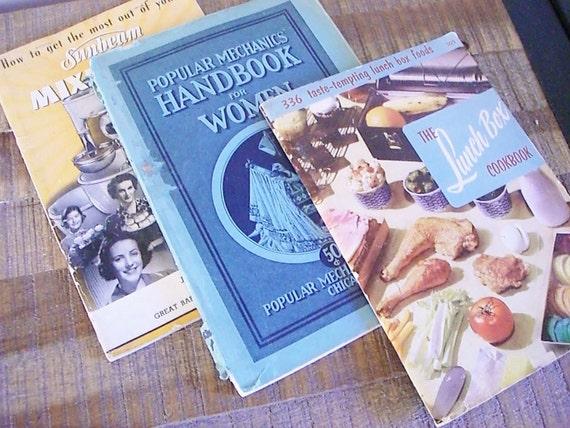 SALE Instant Collection- Vintage Home Economics and Cookbooks 20s-50s