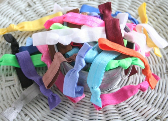 Hair Ties Set of 50 - GRAB BAG of Colors - Emi Jay  Inspired Fashion Accessory - Great for Cheer Sports Teams- Speedy Delivery
