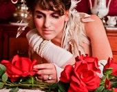 Fairy Headband ....White and cream feathers ...