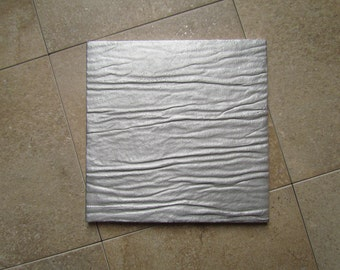 Ripple Tile, 6 x 6 inch, Recycled Cast Aluminum, Made to Order