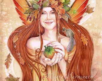 A4 Print - Goddess of the Autumn