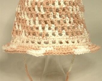 Baby Toddler Bucket Cotton Play Hat Brim Custom Fit Natural String Mix Set