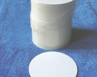 125 MW Blank White Chipboard 4-inch Round Coasters