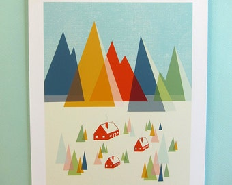 The Foothills Print