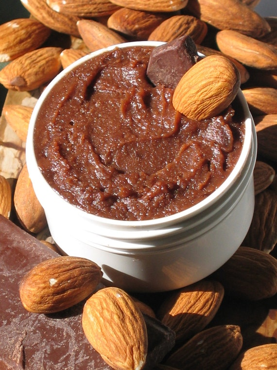 Organic Chocolate Almond Edible Body Butter 1 1/2 oz size - Very chocolatey w/ Organic Cocoa