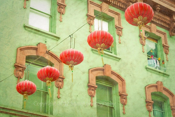 San Francisco Photo, Chinatown, Fine Art Photography, Paper Lanterns, Wall Art, Cityscape, California, Travel Photography, Home Decor, Print