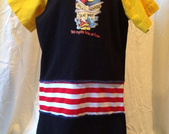 Alice in Wonderland T shirt Dress size 4