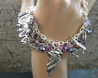 Game of Thrones Bracelet, Dragon Jewelry, Silver Dragon Bracelet Steampunk Jewelry, Khaleesi Daenerys Targaryen Game of Thrones Jewelry OOAK