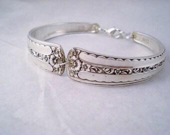 Spoon Bracelet, Vintage Silverware Jewelry, Vintage Bracelet, Shabby Chic, Vintage Wedding SPRING BOUQUET 1954