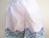 SALE Toddler Pants Girls Pull On Retro Floral White Violets Elastic Waist  - Size 24 Months