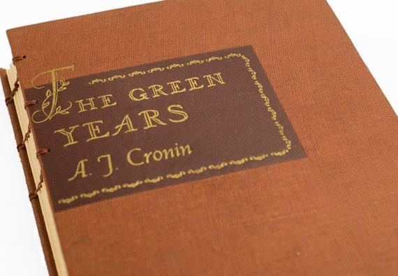 1946 GREEN YEARS Vintage Book Journal Notebook