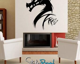 Vinyl Wall Decal Sticker Abstract Dragon Head  KRiley121B