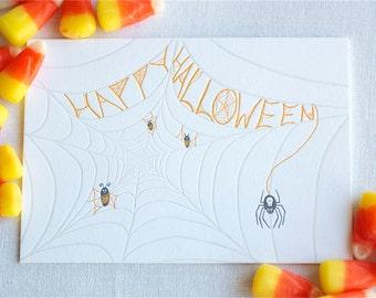 Spider Web Letterpress Card