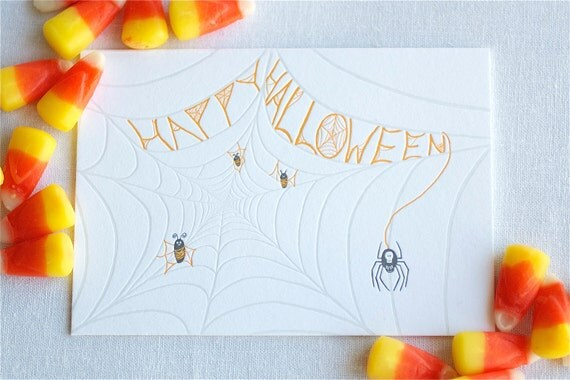 Spider Web Letterpress Card