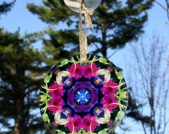 Petunia Suncatcher Boho Chic New Age Sacred Geometry Hippie Kaleidoscope Serendipity