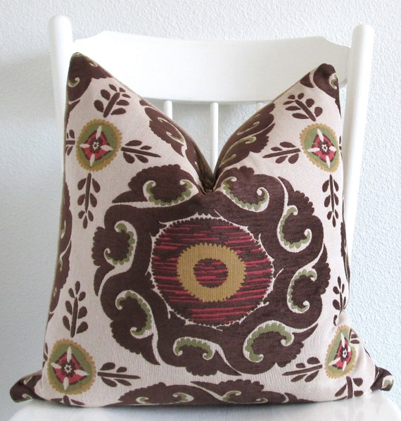 Red Brown Beige Throw Pillows : CraftLaunch Site Inactive