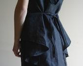 Asymmetrical Linen Top/ Minimalist fashion by NervousWardrobe on Etsy