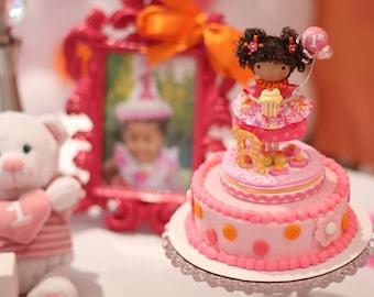 1st custom cake topper, Birthday cake topper, 1st birthday, cake decoration, cake topper  second birthday  decor, gift for girl, unique gift