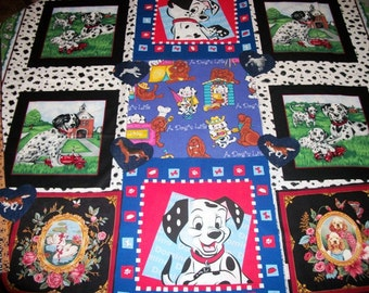Dogs Puppies KIDS Fabric GREAT Craft supplies for quilting gift ideas for home sewing wall decor and more