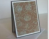 Thanksgiving Greeting Cards: Handmade Blank Note Card (Batch No.3) - Retro Harvest