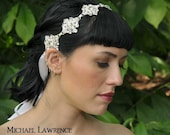 Faerieland Crystal Bridal Ribbon Headband Headpiece