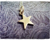 Small Silver Star Necklace - Sterling Silver Star Charm on a Delicate Sterling Silver Cable Chain or Charm Only