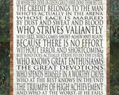 Man in the Arena Print - 11x14 Word Art Prints -Theodore Roosevelt