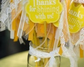 Yellow Sunshine PRINTABLE Party Favor Tags (INSTANT DOWNLOAD) from Love The Day