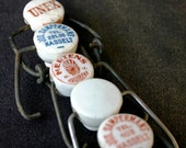 Old porcelain caps. Vintage finds instant collection.