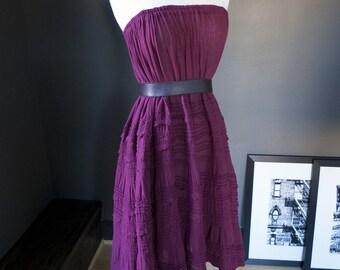 Bella gitana... vintage gauzy bohemian dress/maxi skirt