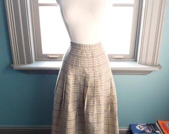 Sweet irony... Vintage lightweight summer plaid skirt