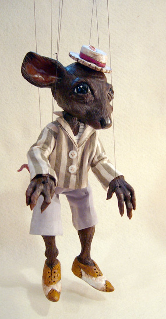 Ratty Marionette, Wind in the Willows Character (Made to Order)