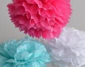 Wedding Tissue Paper Pompoms / 40 / Your Colors / Photo Backdrop /  Wedding Backdrop / Centerpieces