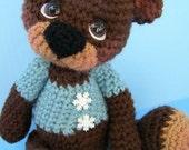 Crochet Pattern Cute Teddy Bear by Teri Crews instant download PDF format Crochet Toy Pattern