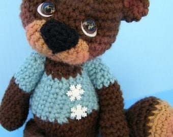 Crochet Pattern Cute Teddy Bear by Teri Crews instant download PDF format Crochet Toy Pattern