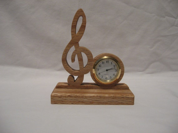 Scrolled Treble Cleff Clock