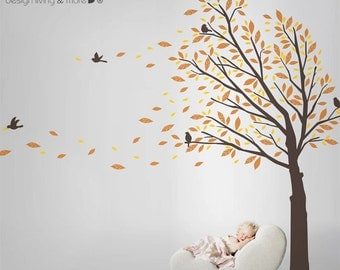 Tree Wall Decal for Modern Home or Baby Nursery - 0087