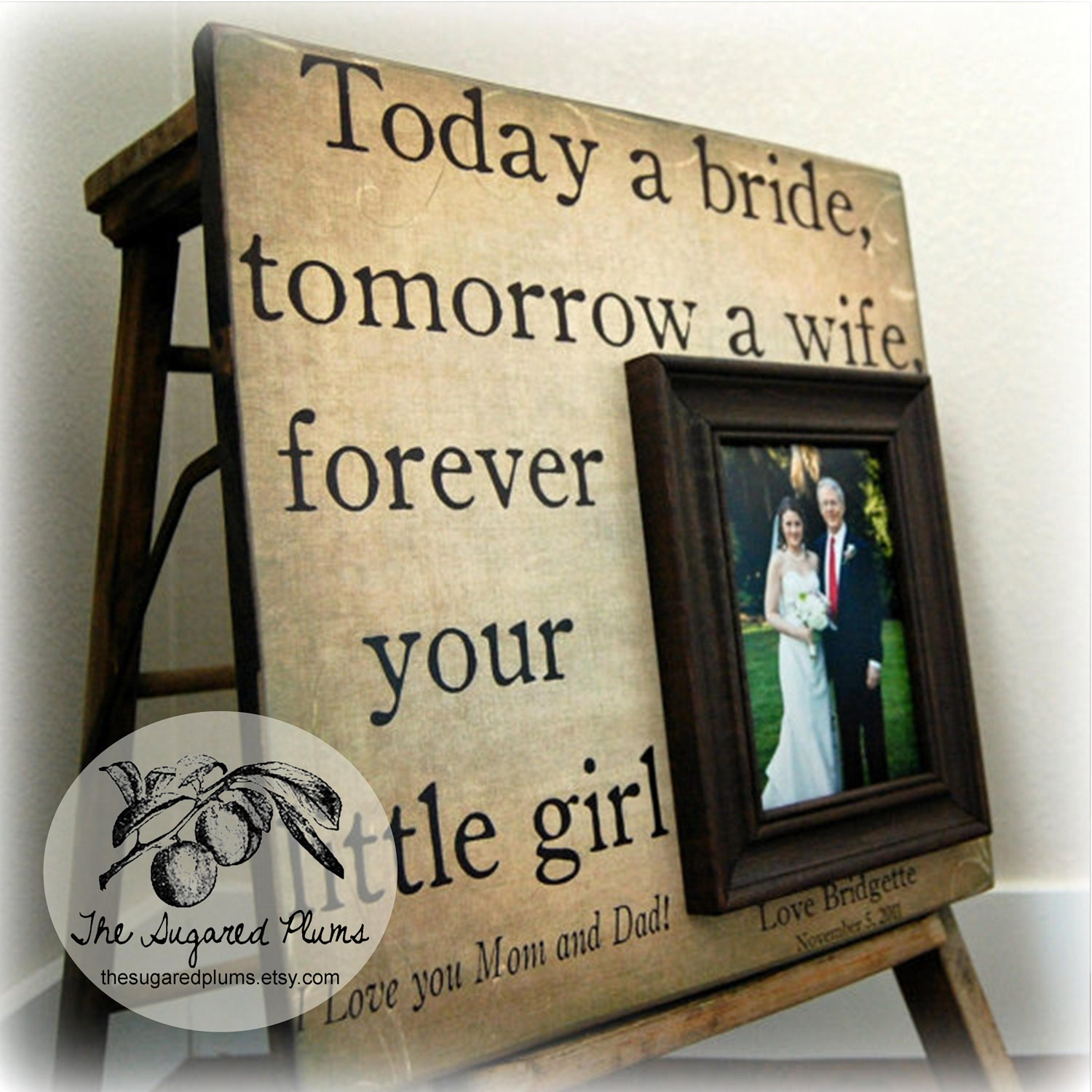 Father of the Bride Parents Thank You Gift Personalized