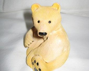 Artesania Rinconada TEDDY BEAR   Excellent Condition  3 1/3 inches Tall By Gatormom13
