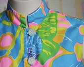 Vintage Bright Retro  Button-down Casual Day Dress