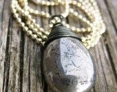40% OFF SALE! Pyrite Necklace Fools Gold necklace Gemstone jewelry Smooth Pyrite teardrop Antiqued Brass Gold Plated chain Gemstone necklace