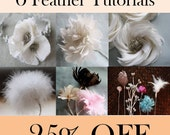All Feather Flower Tutorial Patterns - 25% Bundle Discount with Diy Wedding Bouquet Assembly and Accessories Tutorials