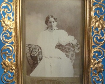 Photograph of a Woman in Gilded Fancy Frame