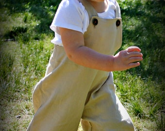 Natural Khaki Linen - A Good Day OVERALLs